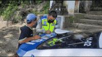 Satlantas Polres Ciamis dalam Operasi Patuh Lodaya