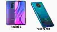 Ponsel Xiomi Anyar Redmi 9 dan POCO F2 Pro
