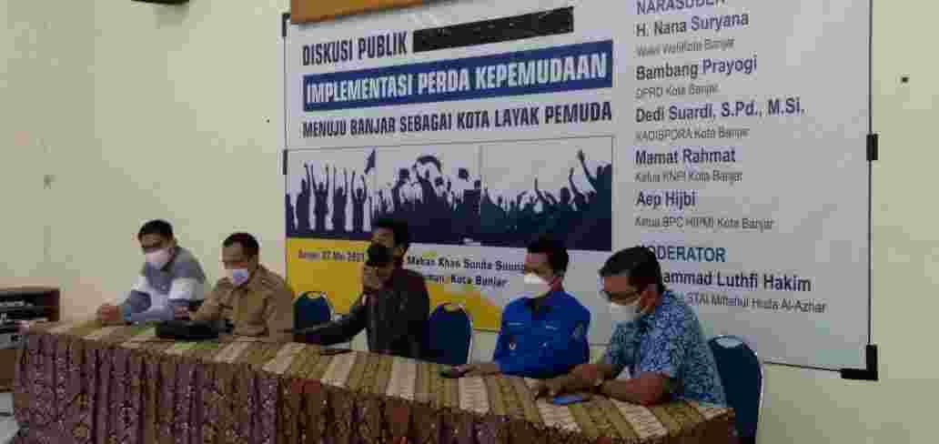 Forum Mahasiswa Kota Banjar gelar diskusi kepemudaan. foto:bayu/sakata.id